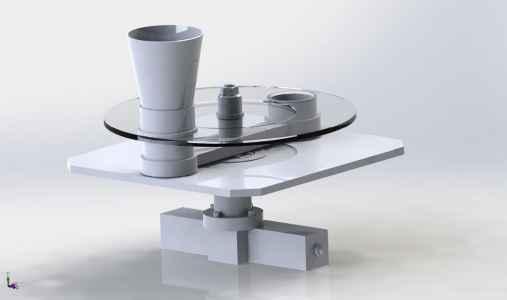 3D модель шиберного стола